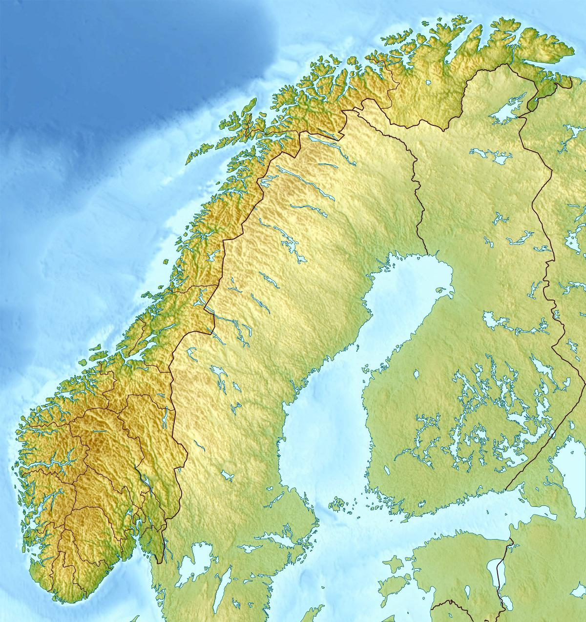 Norwegen Topografische Karte Norwegen Topo Karte Europa Nord