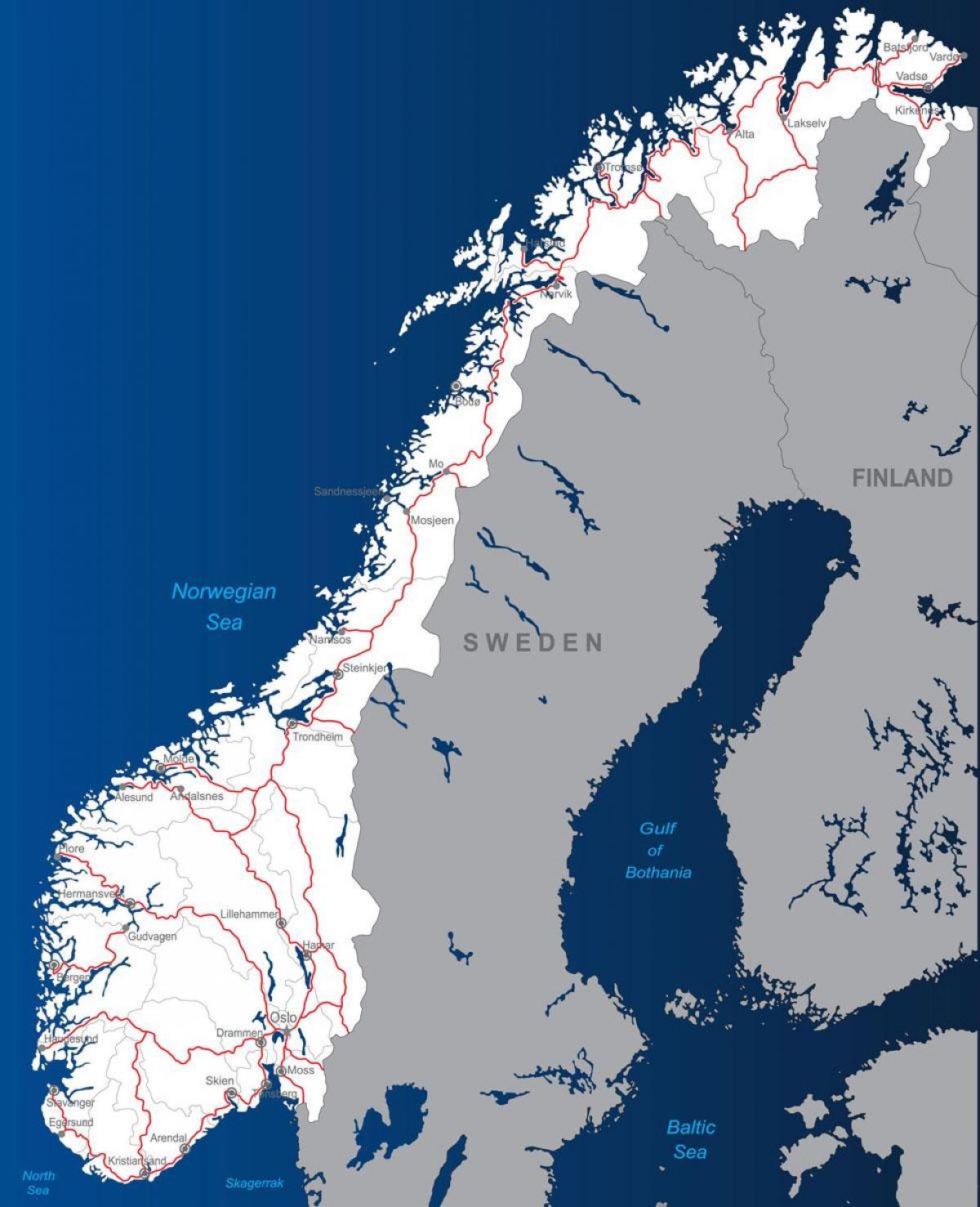 Norwegen Maut Strassen Karte Toll Strassen Karte Von Norwegen