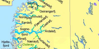 Norwegen Fjorde Landkarte Karte Von Norwegen Zeigen Fjorde